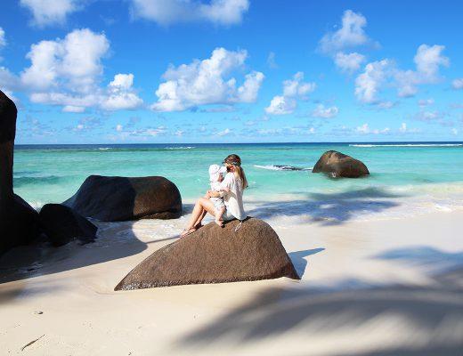 Seychellen mit Baby
