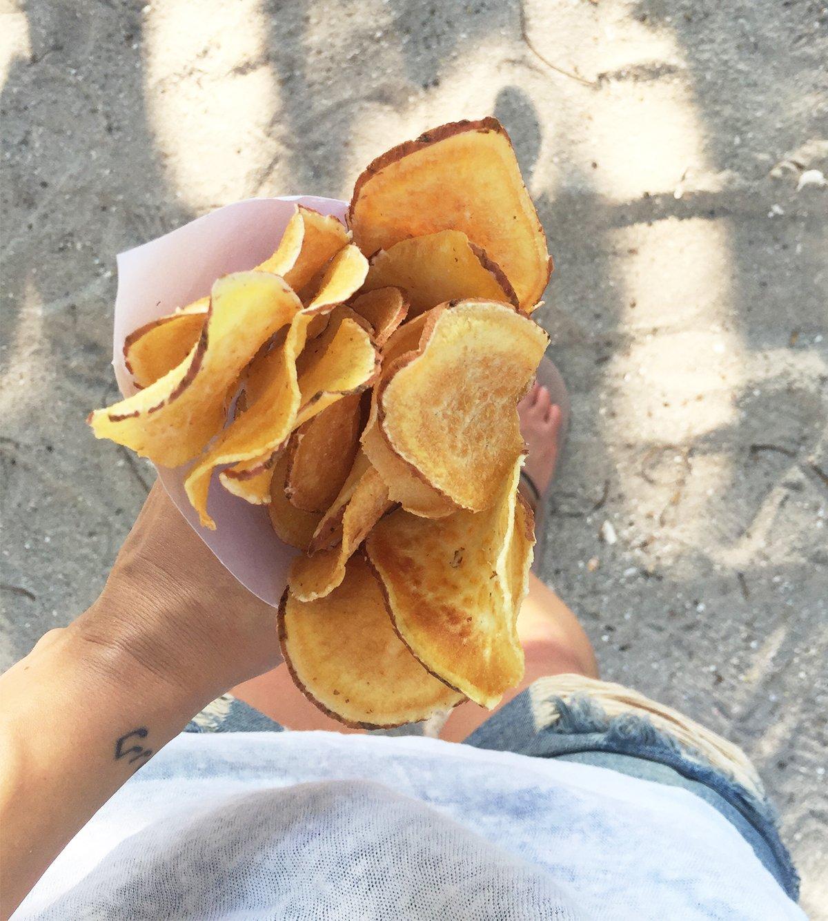 Nom Nom: Sweet Potato Chips vom Straßenstand