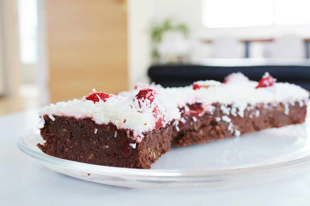 Mein Bestes Stuck Browniekuchen Rot Weiss Low Carb Mama Moves
