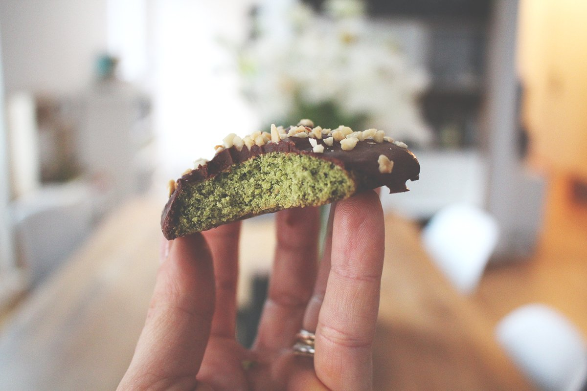 Matcha Schoko Cookies Low Carb