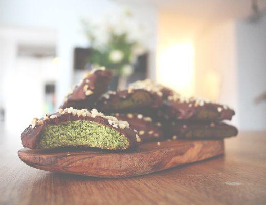Matcha Schoko Cookies Low Carb