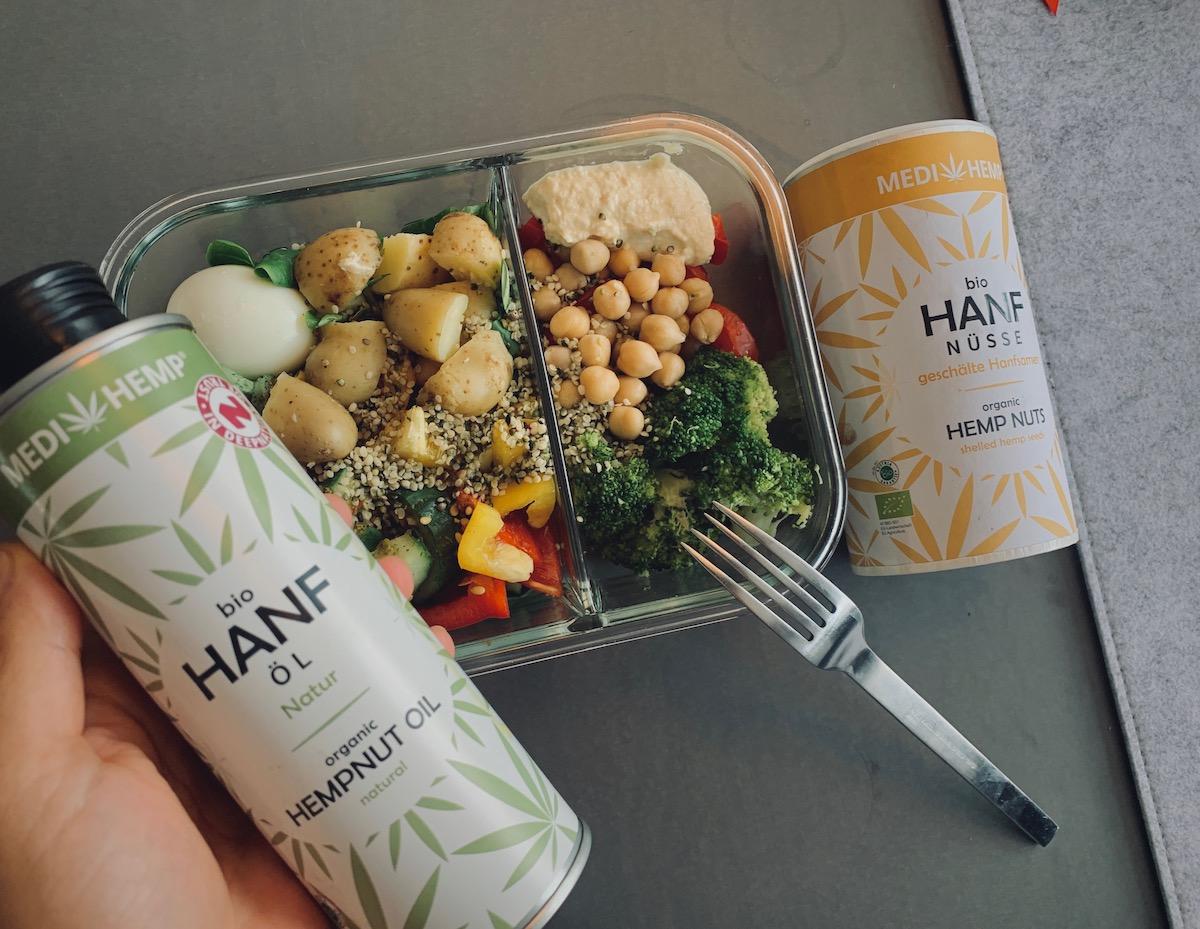 Meal Prep Salat Office Food